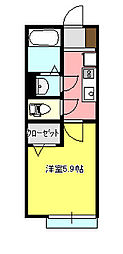 サーフサイド茅ヶ崎2 102[102号室]の間取り