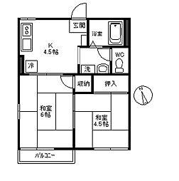 メゾン元町[203号室]の間取り
