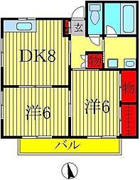 ハイツ増田3号棟[206号室]の間取り