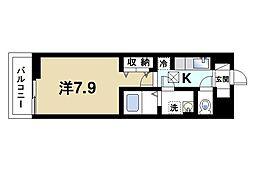 近鉄橿原線 近鉄郡山駅 徒歩6分の賃貸アパート 1階1Kの間取り