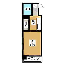 コーポ渡辺[4階]の間取り