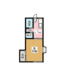 カーサヒロ[1階]の間取り