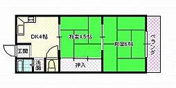 宮の里マンション[A402号室号室]の間取り