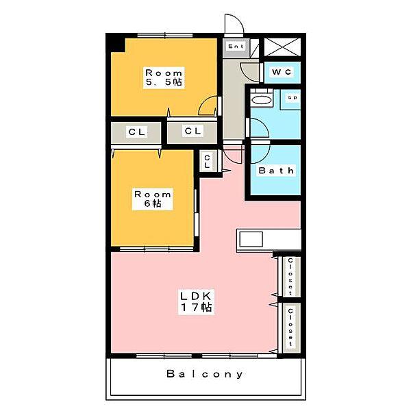 フローレンス三河安城[8階]の間取り