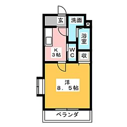 マンションベッカム[3階]の間取り