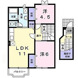 カームハウス・SHIMADA(内川)[203号室号室]の間取り