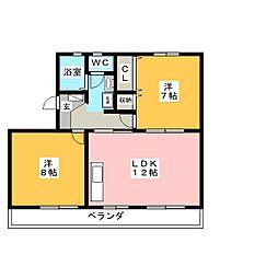 グレースバレー[3階]の間取り