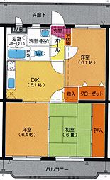 ユーミーAOKI[B302号室]の間取り