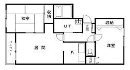 ガーデンハウス[305号室]の間取り