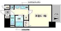 プレサンス難波幸町[7階]の間取り