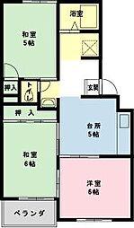 千葉県浦安市北栄2丁目の賃貸アパートの間取り