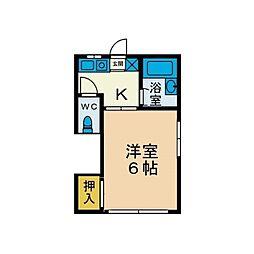 第3パルハウス[2階]の間取り