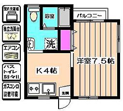 サニーコート高橋2nd[1階]の間取り