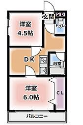 第二藤田ハイツ[2階]の間取り