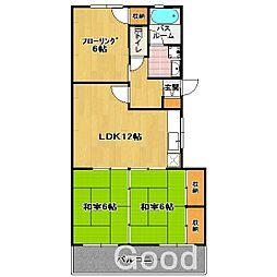 グリンビア 香住[2階]の間取り