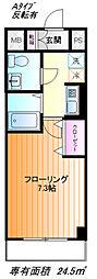 パトリア桜ヶ丘[タイプA号室]の間取り