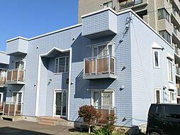 北海道札幌市豊平区月寒西一条6丁目の賃貸アパートの外観