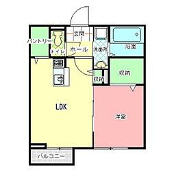 茨城県水戸市見川2の賃貸アパートの間取り