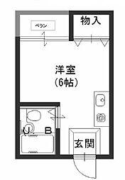 JPアパートメント藤井寺[3階]の間取り