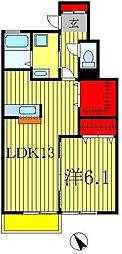 ガーデンプレイス常盤平C[102号室]の間取り