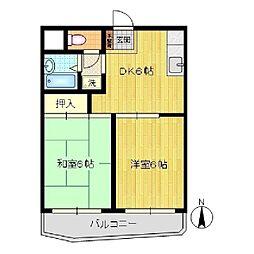 ソシエ川崎[303号室]の間取り