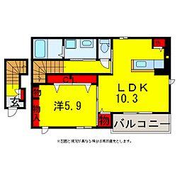 グランレーヴ[2階]の間取り