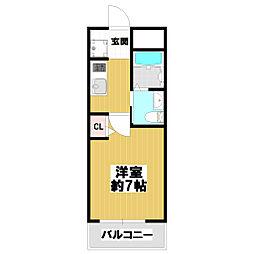 エムプラザ小阪駅前[8階]の間取り