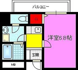 パーラム徳庵[2階]の間取り