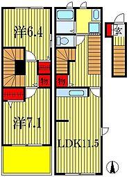 ボニート II[3階]の間取り