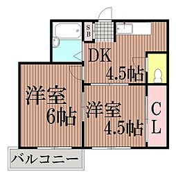 東京都大田区西六郷3丁目の賃貸マンションの間取り