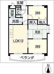 メゾンラフィネ[3階]の間取り