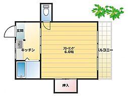 第2木の実ビル[401号室]の間取り