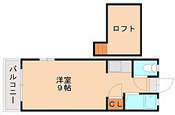 クィーンコート井尻[1階]の間取り
