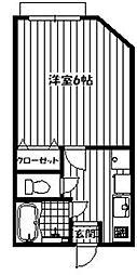 東京都北区滝野川4の賃貸アパートの間取り