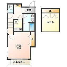 兵庫県明石市山下町の賃貸アパートの間取り