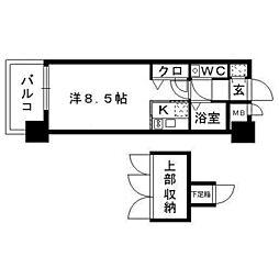 福岡県福岡市中央区春吉2の賃貸マンションの間取り