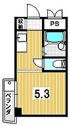 白川ロイヤルハウス[302号室]の間取り