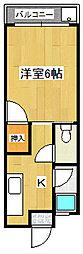 レジデンス210 A[2階]の間取り
