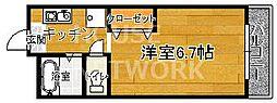 稲井ハイツ北山[202号室号室]の間取り