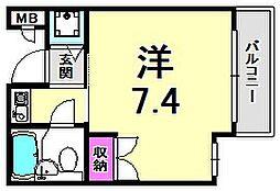 ベルトピア西宮北口I[3階]の間取り