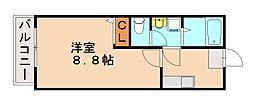 福岡県太宰府市朱雀4丁目の賃貸アパートの間取り