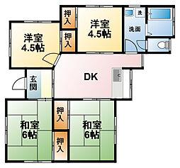 オガワアパート[1F号室]の間取り