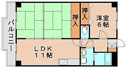 センチュリー21[6階]の間取り