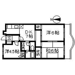 コンフォールクレール[2階]の間取り