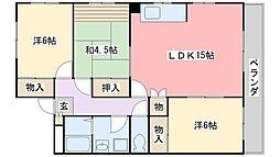 プラザ澤田[3階]の間取り