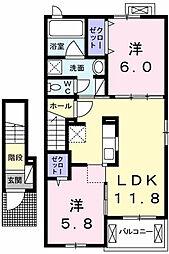 レジデンシア[2階]の間取り