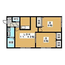 エミネンス中央[1階]の間取り