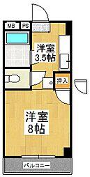 シティハイツ古賀[4階]の間取り