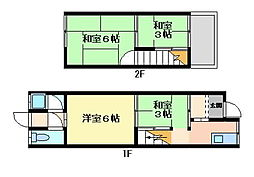 [テラスハウス] 大阪府四條畷市南野4丁目 の賃貸【/】の間取り