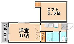 ココ・プリランテ[1階]の間取り